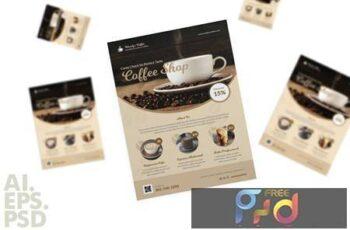Coffee Shop Flyer Design BQX48EV 7