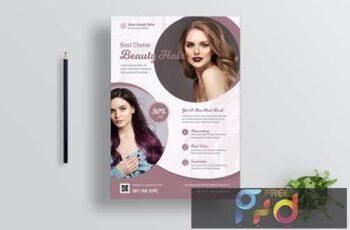 Hair Salon Flyer Design C94R62N 7