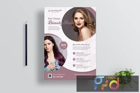Hair Salon Flyer Design C94R62N 1