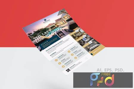 Luxurious Hotel Flyer Design with Gold Accent 79BR7YP 1