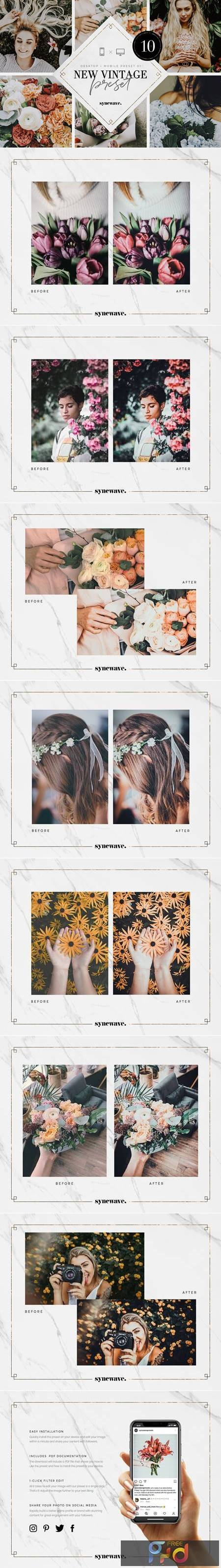New Vintage Lightroom Preset Bundle 5251230 1