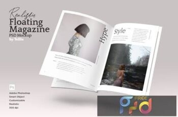 Magazine Mockup V01 Floating FARR2FK 3