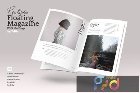 Magazine Mockup V01 Floating FARR2FK 1