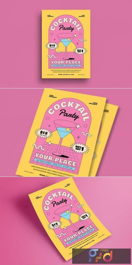 Summer Cocktail Party Flyer XZACEJP 1