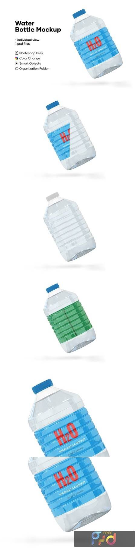 5L Clear PET Water Bottle Mockup 5233942 1