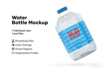 5L Clear PET Water Bottle Mockup 5233942 5