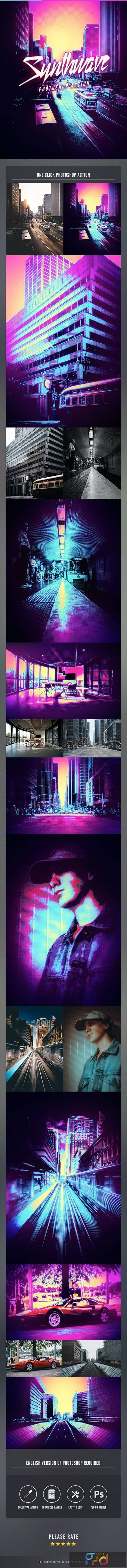 Synthwave Photoshop Action 26691788 1