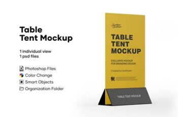 Plastic Table Tent Mockup 5242102 6
