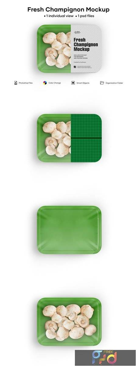 Plastic Tray With Champignon Mockup 5242199 1