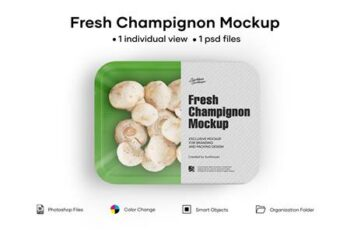 Plastic Tray With Champignon Mockup 5242199 5