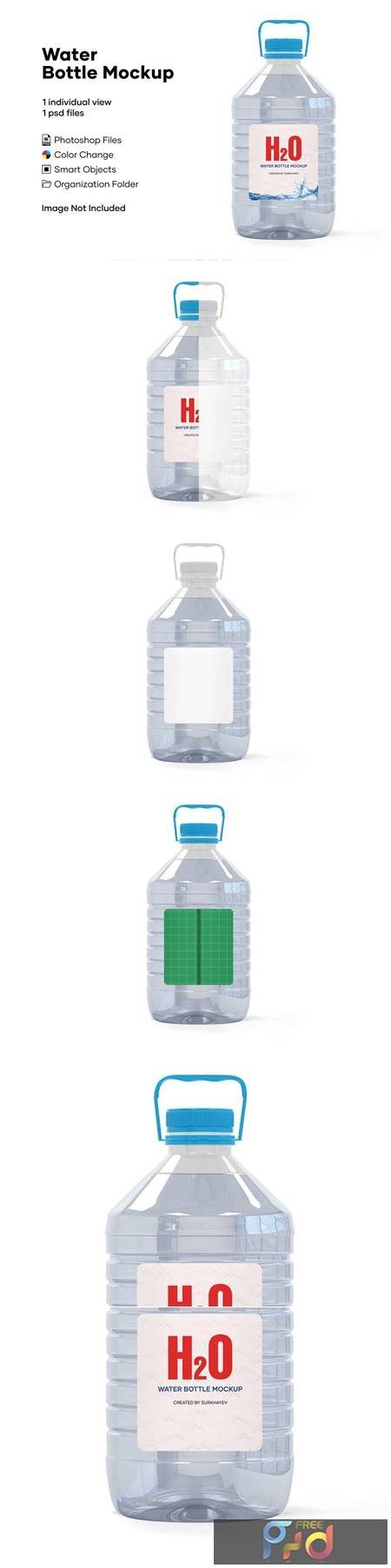5L Clear PET Water Bottle Mockup 5233909 1