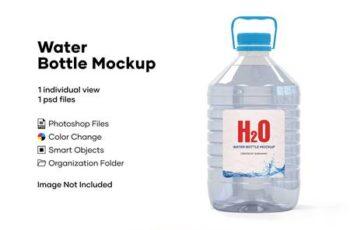 5L Clear PET Water Bottle Mockup 5233909 6