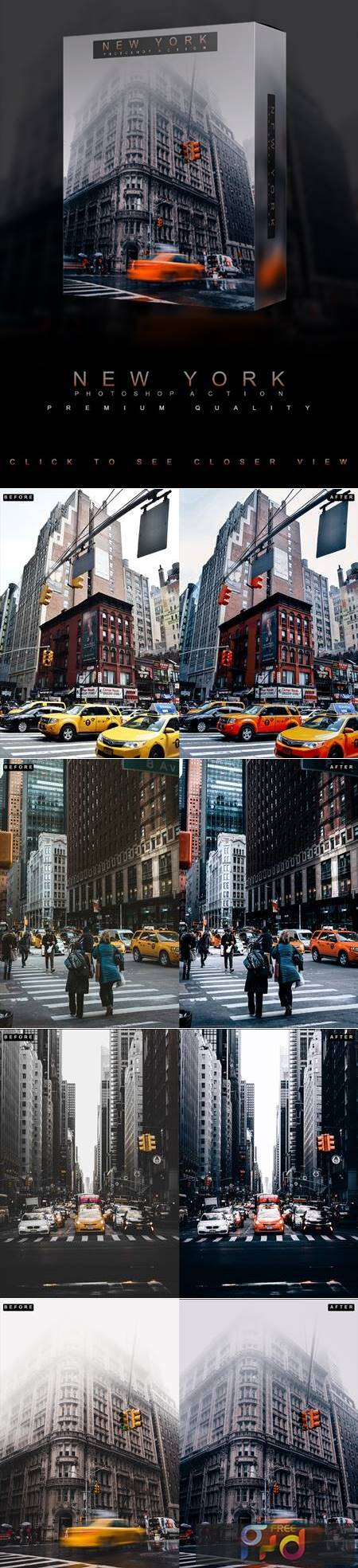 Famous Citys - NEW YORK - Photoshop Action 26752166 1