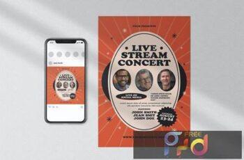 Live Stream Concert Flyer GVEZSZY 5