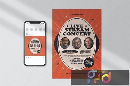 Live Stream Concert Flyer GVEZSZY 1