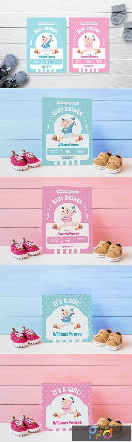 Simple Baby Playground - Baby Shower Invitation T427H66 1