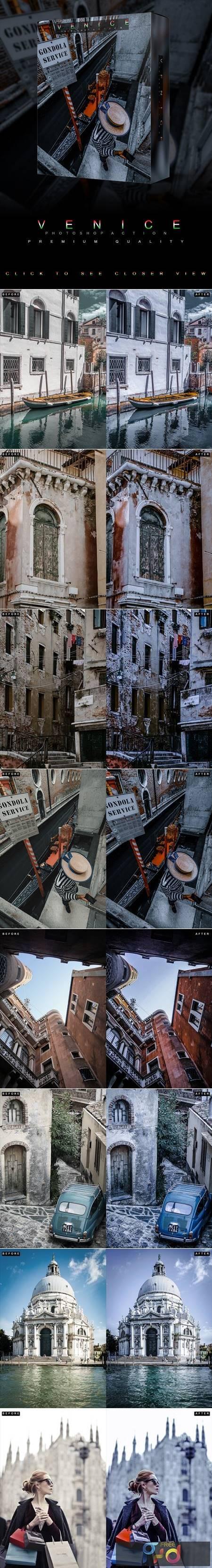 Famous Citys - VENICE - Photoshop Action 26810410 1