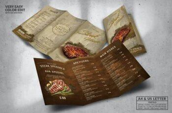 Steak House Food Menu Design A4 & US Letter PT9XLBB 2