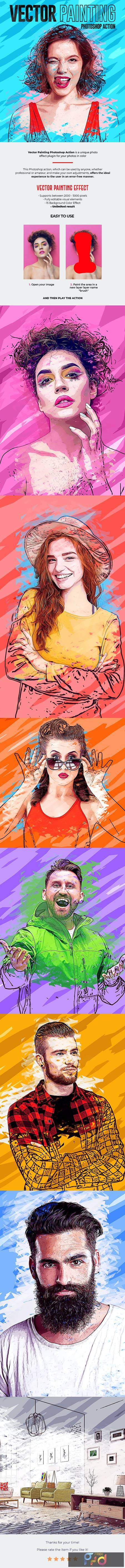 Vector Painting Effect Photoshop Action 26992554 1