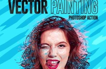 Vector Painting Effect Photoshop Action 26992554 6