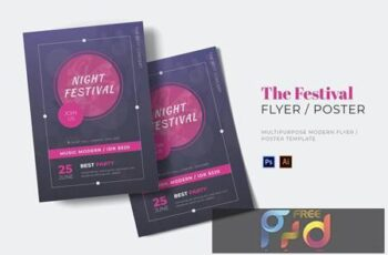 Night Festival Flyer 6GCHZY5 3