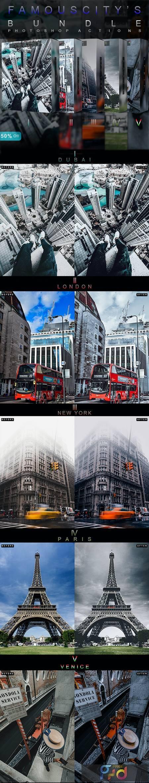 Famous Citys Bundle - Photoshop Actions 27076079 1