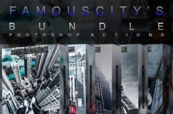 Famous Citys Bundle - Photoshop Actions 27076079 2
