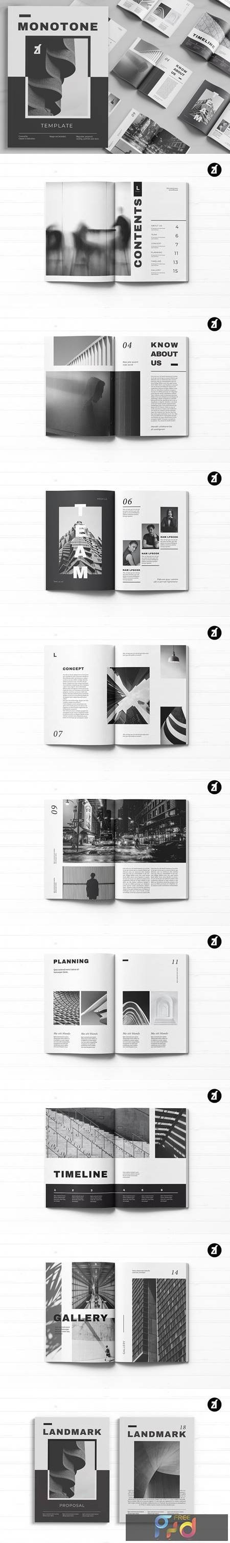 Download Monotone magazine multi-purpose book 5243100 - FreePSDvn