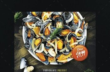 Mussels Seafood Flyer Template 26093306 3