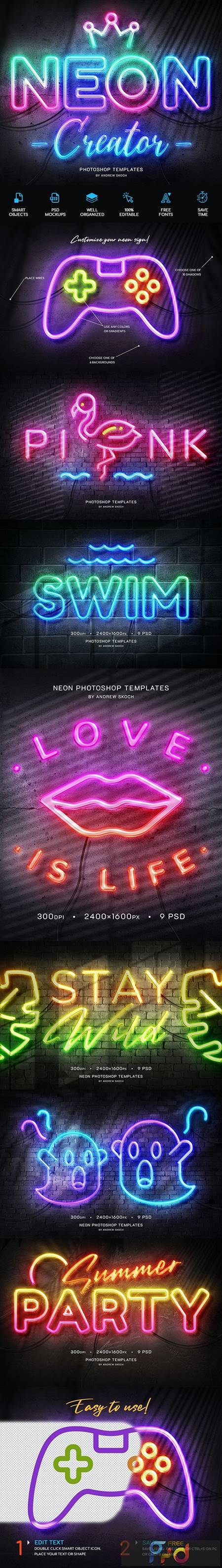 Neon Wall Sign Templates 27858499 1