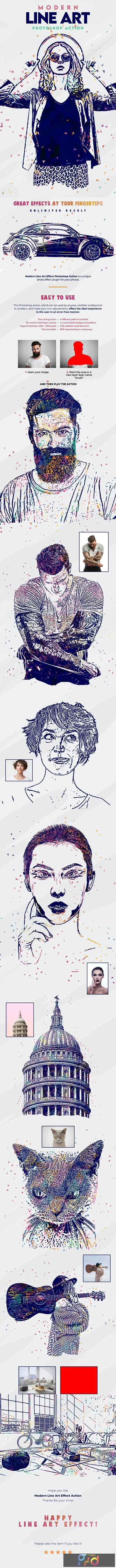 Modern Line Art Effect Photoshop Action 26986358 1