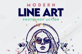 Modern Line Art Effect Photoshop Action 26986358 2