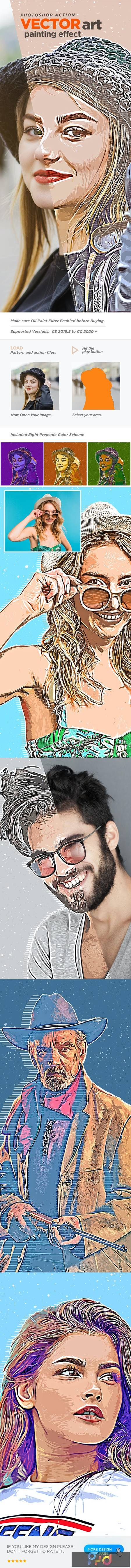 Vector Art Painting Effect Photoshop Action 27010115 1