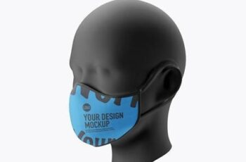 Medical face Mask mockup 5239604 2
