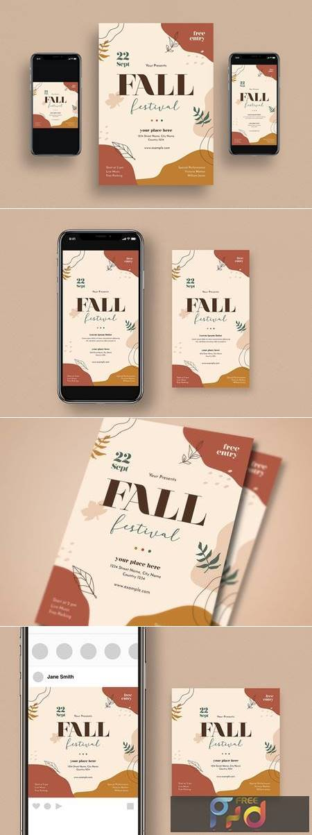 Fall Festival Flyer Set 7AHGLLA 1