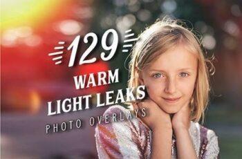 129 Warm Light Leaks Photo Overlays 27018647 3