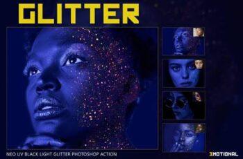Neo UV Black Light Glitter Photoshop 5054406 2