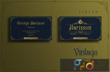 Vintage Elegant Theme - Liquor Business card XHV9JVQ 5