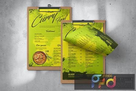 Curry Food Menu Design A4 & US Letter 7WAA5Q6 1