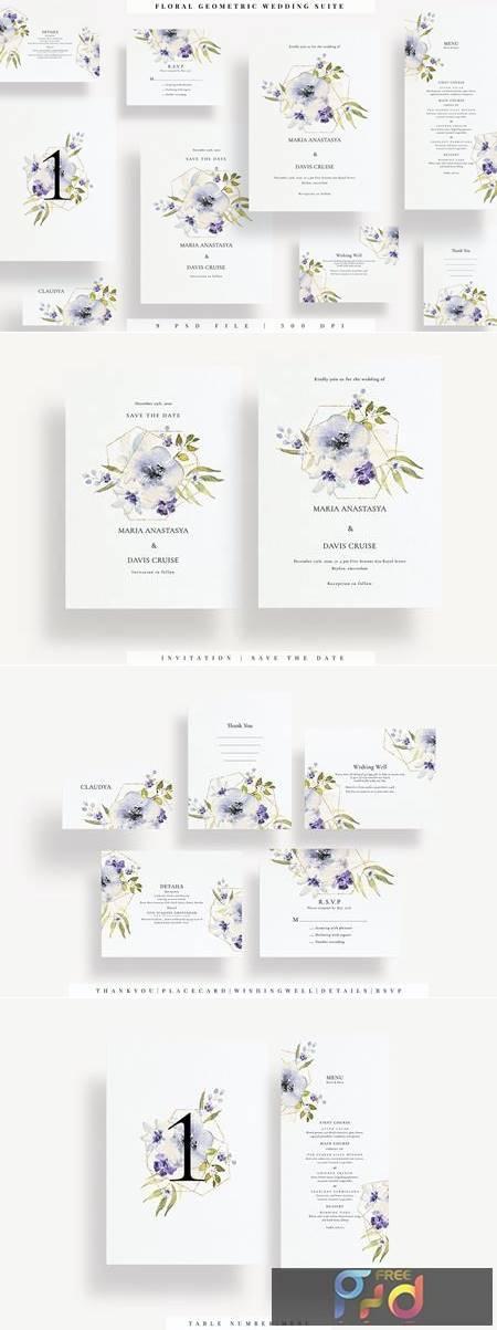 Floral Geometric Wedding Suite EZ VQ9VX8X 1