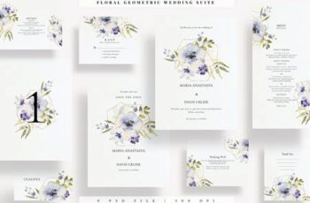 Floral Geometric Wedding Suite EZ VQ9VX8X 8
