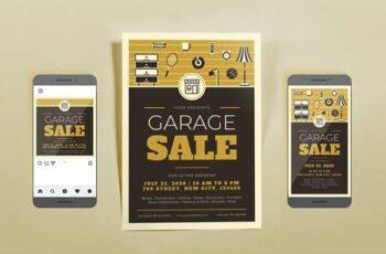 Garage Sale Brown Template Set KVL4SLK 5