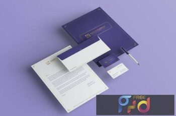 Gold Flower Branding Identity & Stationery Pack Y657ARN 3