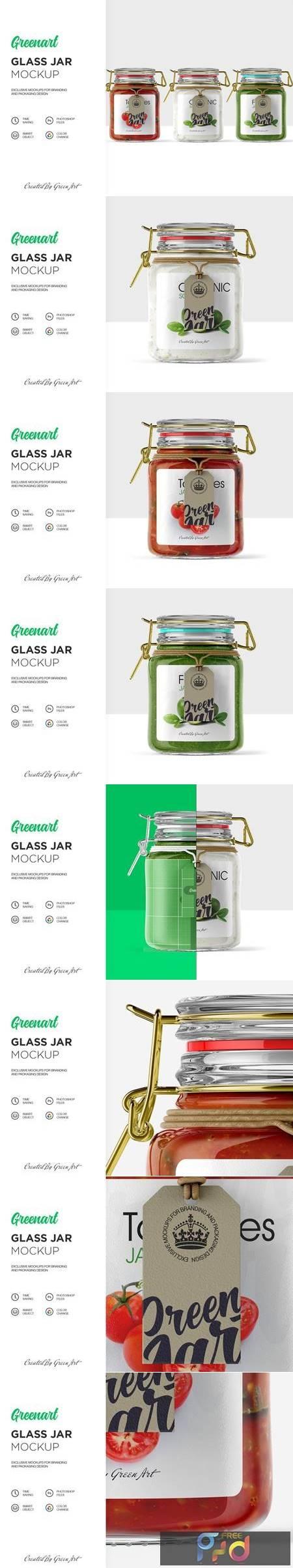 Clear Glass Jar Mockup 2342720 1