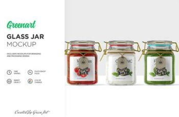 Clear Glass Jar Mockup 2342720 4