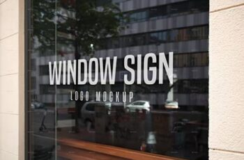 Window Sign Logo Mockup Set 27880965 4