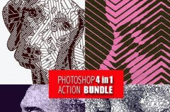 Photoshop 4in1 Actions Bundle V6 28179777 4