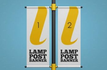 Lamp Post Banner Mockup Set 27825437 3