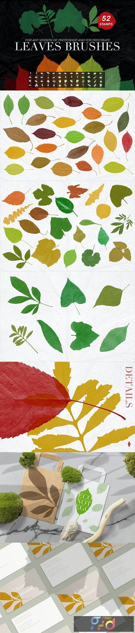 52 Leaves Photoshop Stamp Brushes 27969587 1