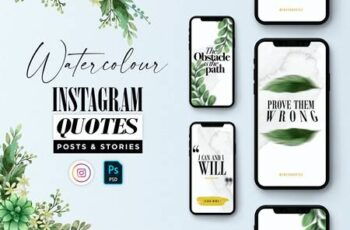 Classy Watercolor Instagram Quotes Posts & Stories LKF6RW2 11